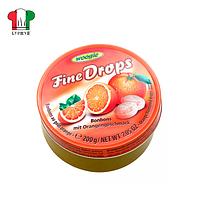 Леденцы дропс вкус апельсина Fine Drops 200г