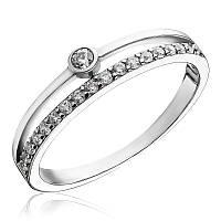 Серебряный перстень двойной с камнями