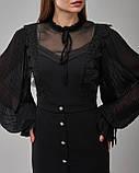 Черное платье прямого силуэта, фото 3