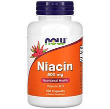 "Ніацин NOW Foods ""Niacin"" нікотинова кислота, 500 мг (100 капсул)"