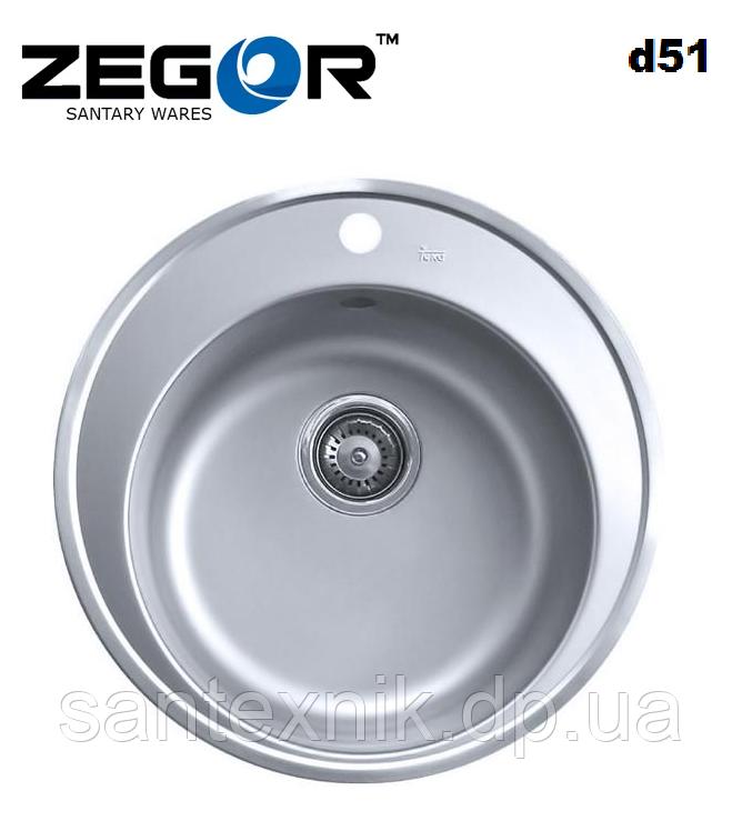Мойка ZEGOR Micro decor MD-5151T d51см
