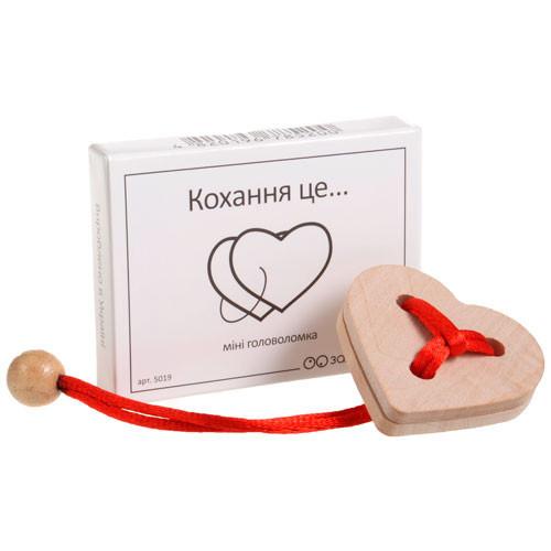 Дерев'яна головоломка Заморочка 5019 Любов