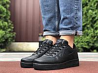 Мужские демисезонные кроссовки Nike Air Force,черные