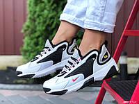 Модные женские,подростковые кроссовки Nike Zoom 2K,белые с черным