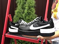 Женские кроссовки Nike Air Force 1 Shadow,черные с белым