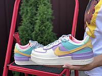 Женские кроссовки Nike Air Force 1 Shadow, яркие,разноцветные