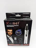 Триммер для носа и ушей Kemei 6651 3в1, фото 1