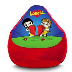 """Крісло мішок """"Love is...дві половинки"""" Флок"""