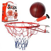 Баскетбольне кільце метал 45см,м'яч 20см,сітка,в кор-ці №M2654(8)
