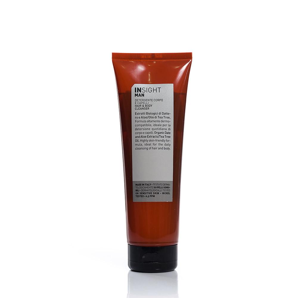 Очищающий гель для волос и тела Insight Man Hair and Body Cleanser, 250 мл