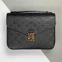 Жіноча сумка Louis Vuitton Pochette Metis Monogram Empreinte (Луї Віттон Яскрава Метис) чорна арт. 03-03