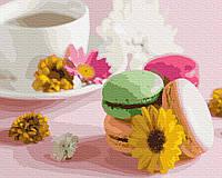 Картина по номерам Brushme Цветочные макаруны