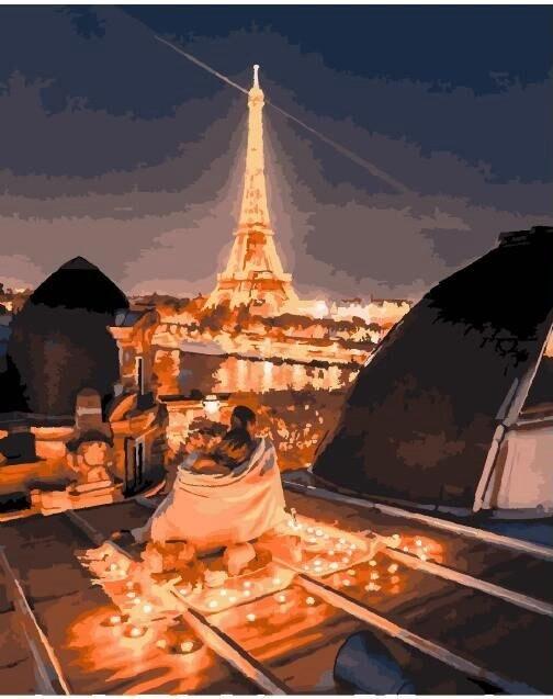 Картина по номерам Brushme Романтика ночного парижа