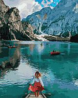 Картина по номерам Brushme Путешественница у озера Брайес