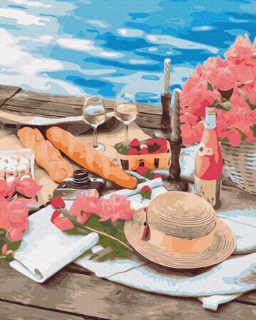 Картина по номерам Brushme Пикник рядом с морем