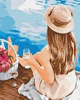 Картина по номерам Brushme Мечтательница в шляпке