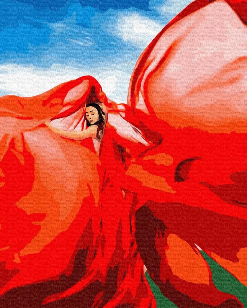 Картина по номерам Brushme Женщина в красном