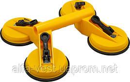 Вакуумний утримувач для скла з 4 присосками 180 кг MASTERTOOL 14-0904