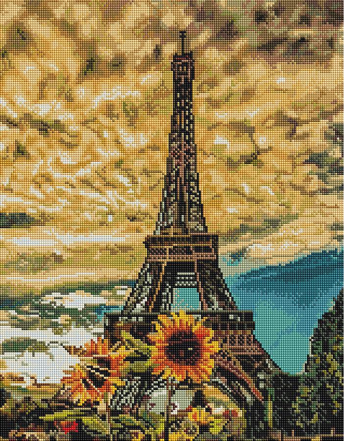 Картина по номерам Brushme Краски Парижа