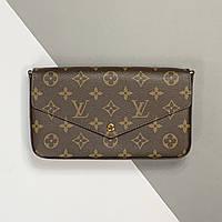 Жіночий клатч Louis Vuitton Pochette Felicie Monogram (Луї Віттон Яскрава Феліція) арт. 03-04