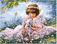 Картина по номерам Brushme Девочка с далматинцем