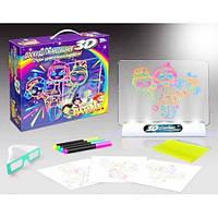 Детский набор для рисования с подсветкой, Доска для рисования с 3D-эффектом игровой набор Сказочный Патруль