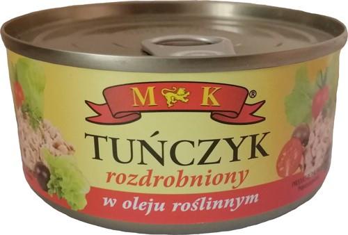 Тунец в растительном масле M&K Tunczyk, 170г (дробленный)