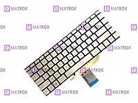 Оригинальная клавиатура для ноутбука HP Spectre X360 15-BL series, ru, silver, подсветка