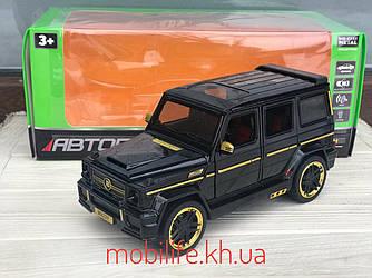 Большая металлическая машинка 20 см Гелик Brabus AMG Тюнинг/Mercedes-benz G65, свет, звук/1:24/