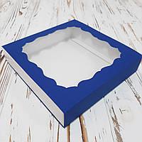Коробка для подарков синя 160х160х35 мм