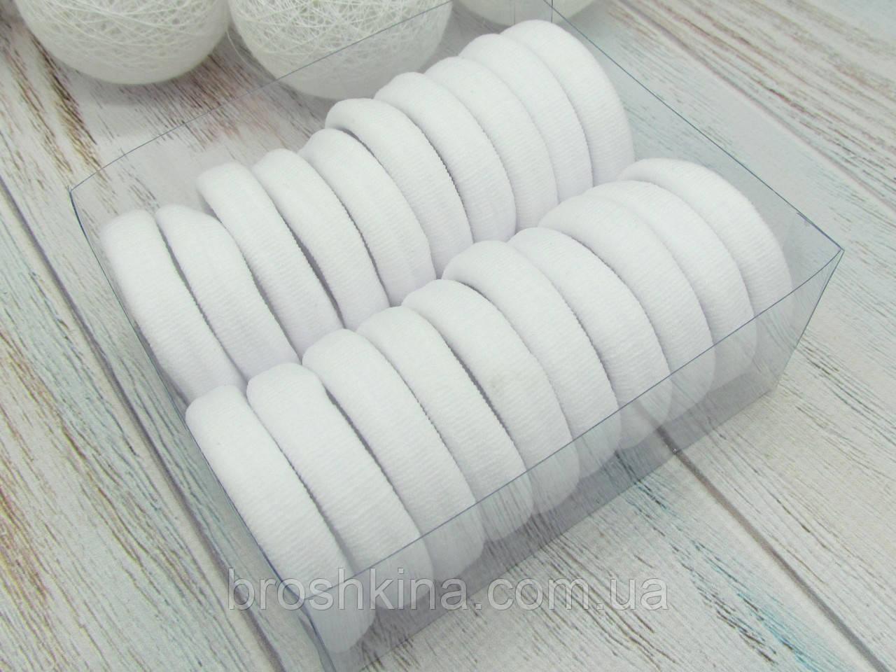 Резинки для волос Ø5 см микрофибра 20 шт. в коробочке