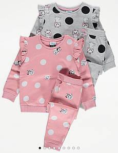 """Костюм для девочки розовый """"Далматинец"""" Disney at George р.1,5-2 года (86/92см)"""