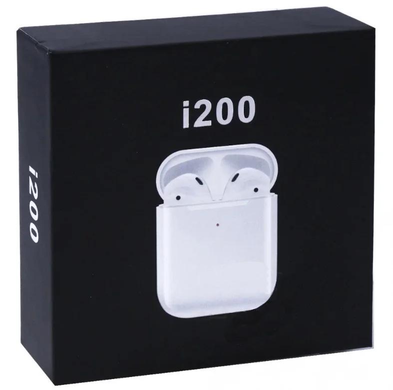 Беспроводные наушники BT i200 Bluetooth 5.0  блютуз гарнитура, белый