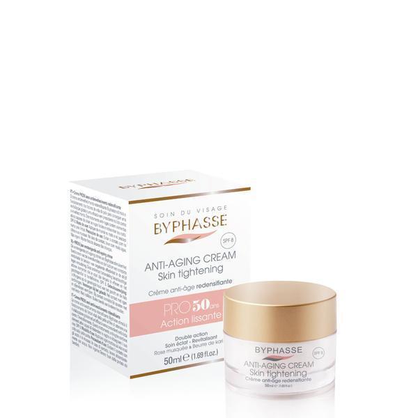Byphasse Anti-aging Cream Pro50 Years Skin Tightening Крем против старения 50+ крем для лица 50 мл