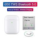 Беспроводные наушники BT i200 Bluetooth 5.0  блютуз гарнитура, белый, фото 3