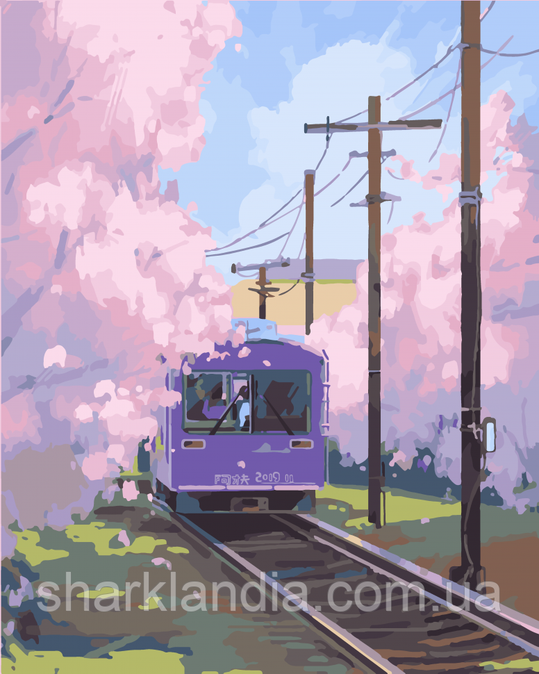 """Картина по номерам. Art Craft """"Поезд к Синдзюку"""" 40*50 см 10533-AC Аниме Наруто"""