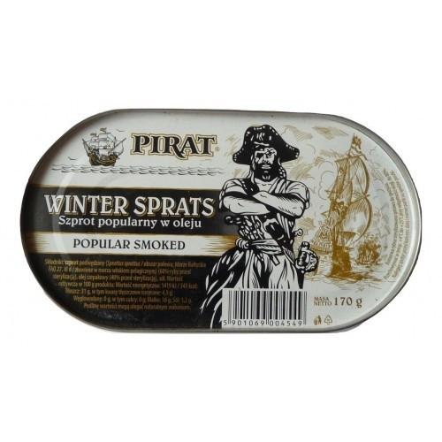Шпроты в масле Pirat Winter Sprats, 170г ж/б