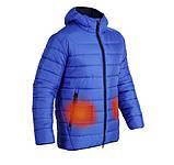 Куртка-пуховик з підігрівом зимова Maximus Blue Chameleon 5V 36-55 З, з контролером температури, фото 2