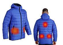 Куртка-пуховик з підігрівом зимова Maximus Blue Chameleon 5V 36-55 З, з контролером температури