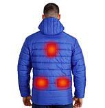 Куртка-пуховик з підігрівом зимова Maximus Blue Chameleon 5V 36-55 З, з контролером температури, фото 3