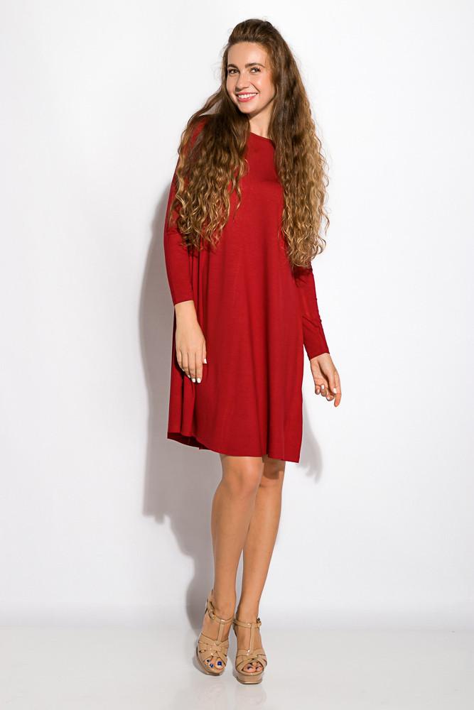 Платье-туника с круглым вырезом 317F054 (Марсала)