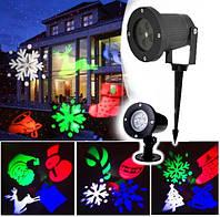 LED вуличний проектор на ніжці: Сніжинки олень гірлянди дзвіночок Star Shower MG-3 від мережі, фото 1
