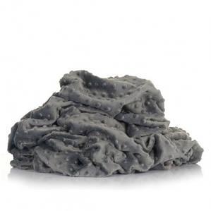 Плюшевая ткань Minky графитовый (плот. 380 г/м.кв) ОТРЕЗ (1,9*1,6)