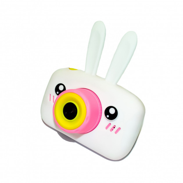 Детский цифровой фотоаппарат  Белый Зайчик Оригинал Children`s fun 20Мп FULL HD 1080P