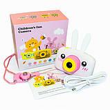 Детский цифровой фотоаппарат  Белый Зайчик Оригинал Children`s fun 20Мп FULL HD 1080P, фото 4