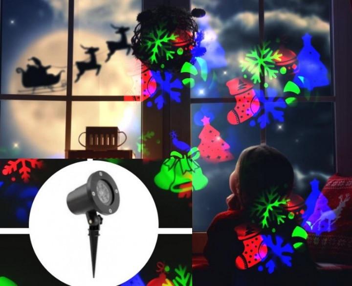 Новогодний проекто 10 картинок Slide Show Крутящийся всесто герлянд для украшения офиса, дома, фасада кафе