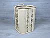 Декоративний кошик з фанери 26х26х36 см з різаним малюнком і ручками (2279), фото 2