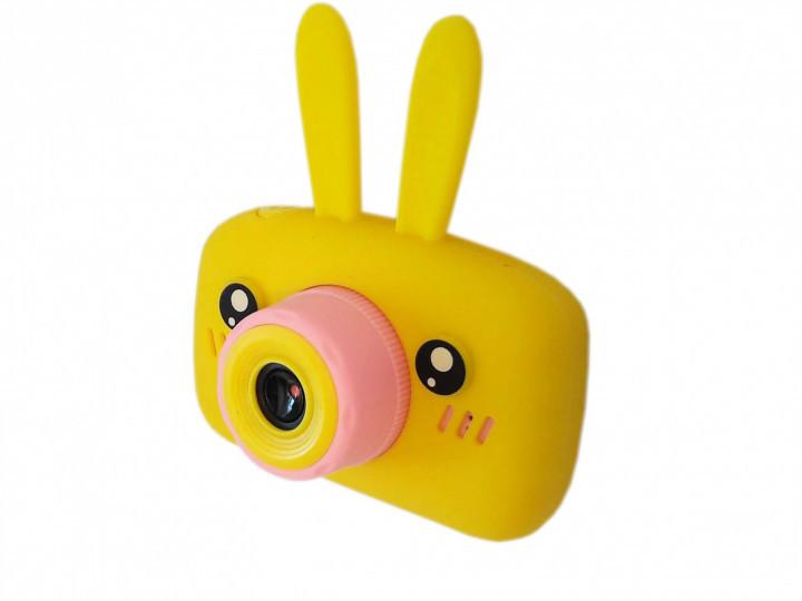 Детский цифровой фотоаппарат Желтый Зайчик 2 Камеры Оригинал Children`s fun 20Мп Full HD 1080p (PY)