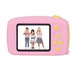 Детский цифровой фотоаппарат Желтый Зайчик 2 Камеры Оригинал Children`s fun 20Мп Full HD 1080p (PY), фото 4