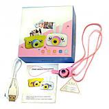 Детский цифровой фотоаппарат Желтый Зайчик 2 Камеры Оригинал Children`s fun 20Мп Full HD 1080p (PY), фото 5